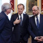 JUNCKER, Jean-Claude (EC) - President of the European Commission; TUSK, Donald - President of the European Council; SCHULZ, Martin (S&D, DE) - EP President